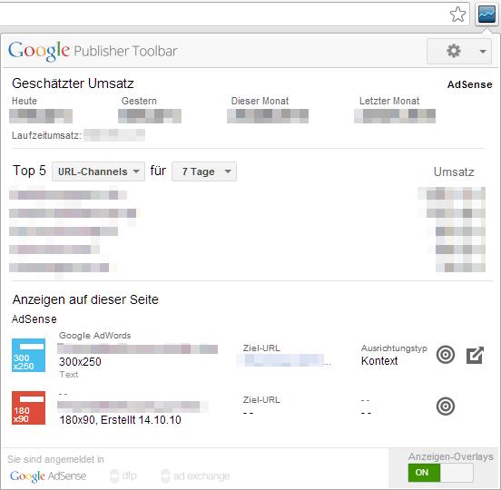 Chrome Plugin Google Publisher Toolbar