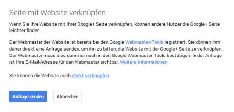 Website mit Google Plus Seite verknüpfen
