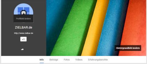 Profilbild und Hintergrundbild hinzufügen