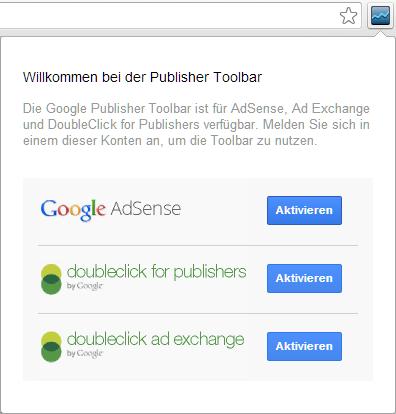 Publisher Toolbar mit AdSense Konto verbinden