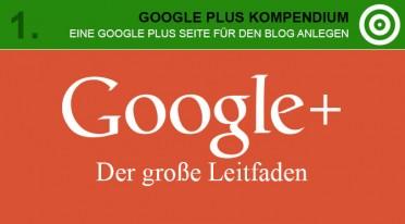 Eine Google Plus Seite für den Blog anlegen