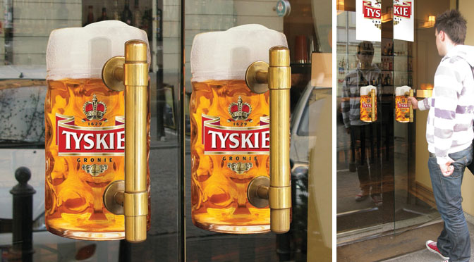 Guerilla Marketing Tyskie Bier