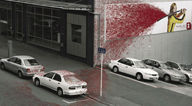 guerilla marketing kill bill - Gute Werbung Beispiele
