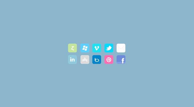 10-Flat-Social-Icon-Set