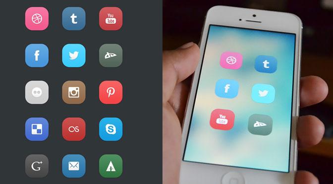 15-Flat-Social-Icons