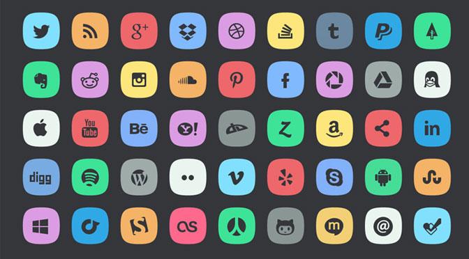 45-Subtle-Social-Media-Icons