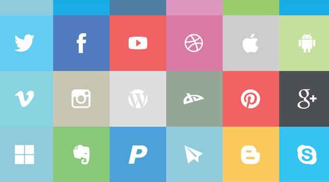 Flat-Social-Icon-Set