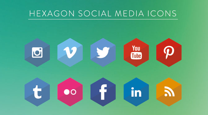 Hexagon-Social-Media-Icons-mit-EPS