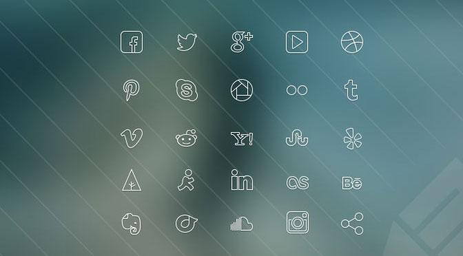Ultra-thin-Social-Media-Icons