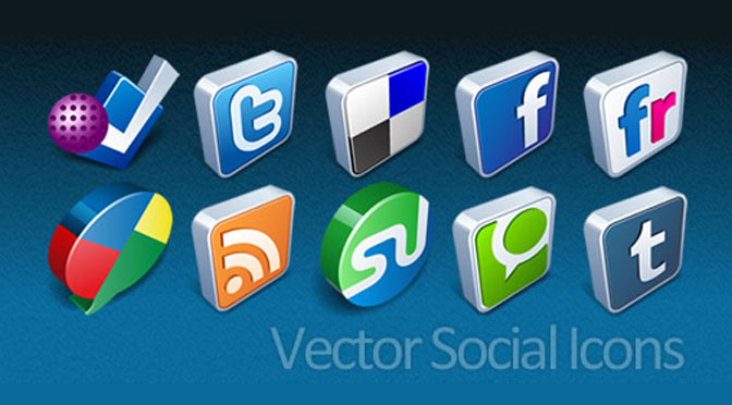 Vector-3D-Social-Icons