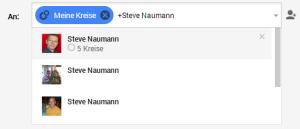 Google+ Beitrag für einzelne Personen teilen