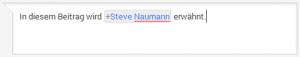 Google+ Person erwähnen