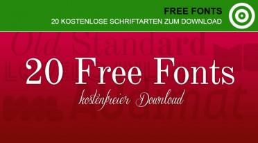 20 kostenlose Schriften als Free Fonts