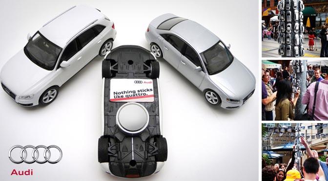 Guerilla-Beispiel Audi