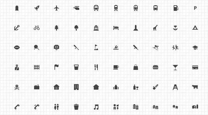 Maki Icon Font