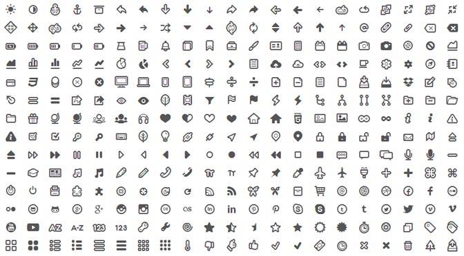 Symbole in kostenlosen Schriftarten als Webfont - Free Icons