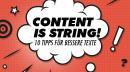 Content is string! 10 Tipps für bessere Texte