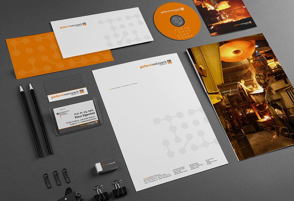 Corporate Design Gießereinetzwerk Leipzig e. V.