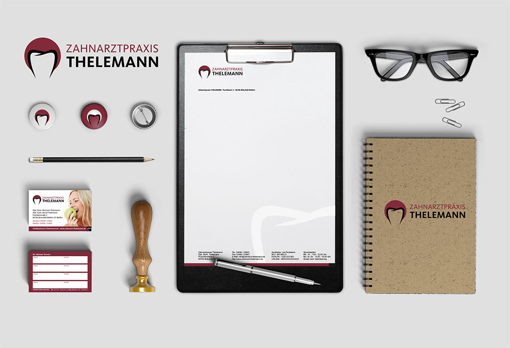 Corporate Design Zahnarztpraxis Thelemann