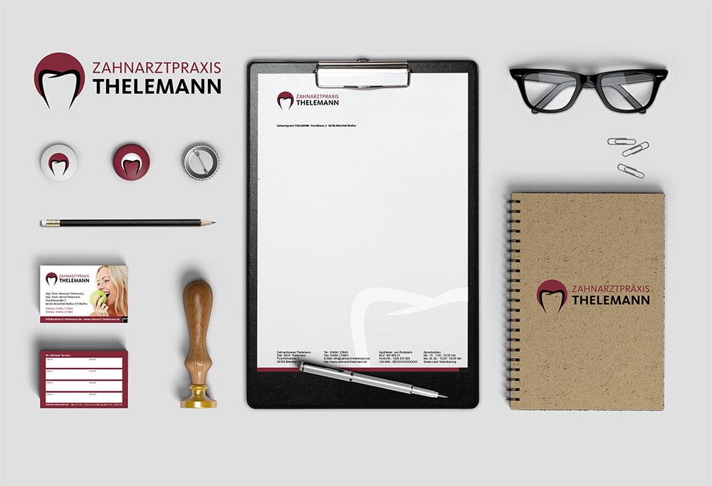 Corporate Design Zahnarztpraxis Thelemann