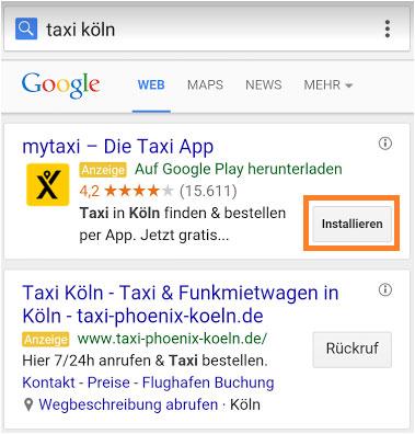 App Erweiterung Anzeigentext Google AdWords