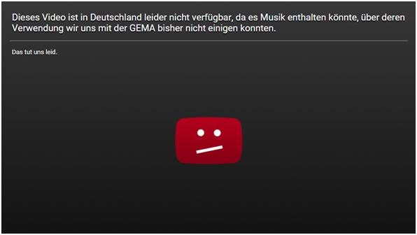 YouTube GEMA