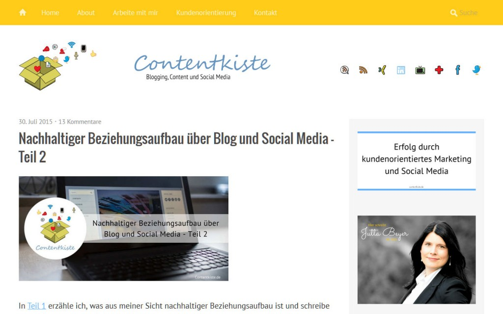 Contentkiste - Social Media und kundenorientiertes Marketing