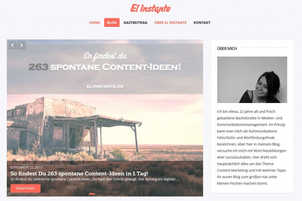 El Instante - Bloggen und Kommunikation