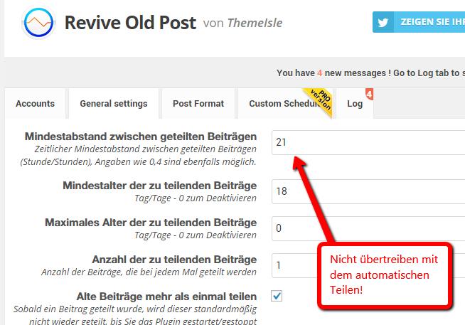 Blogartikel automatisch teilen