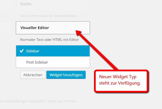 Visueller Editor für Widgets