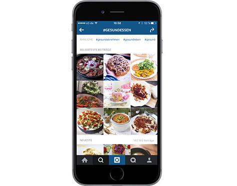 Instagram: Hashtag-Recherche #gesundessen