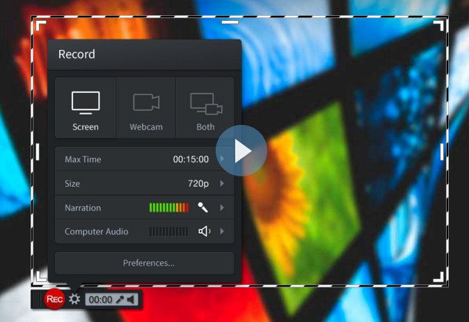 Beispiel Screencastomatic für Bildschirmaufzeichnung