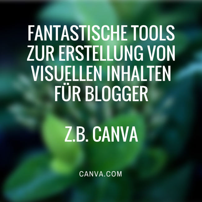 Beispiel Visuelle Inhalte mit Canva
