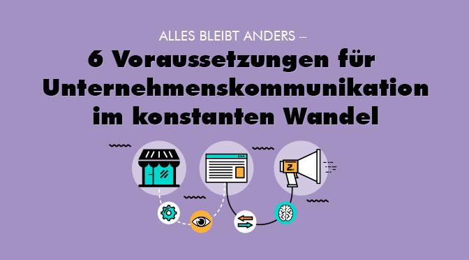 Brief Und Kommunikation Im Wandel : Voraussetzungen für kommunikation im wandel