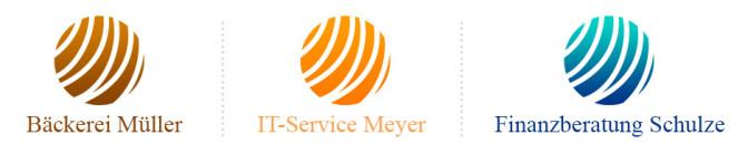 Billig Logos Beispiel