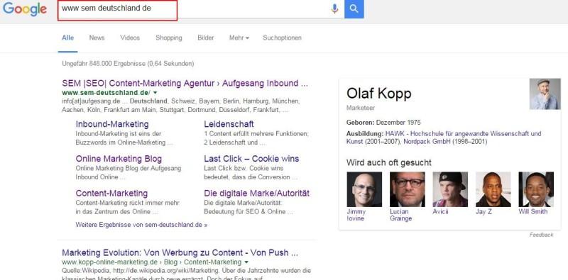 Domain Entität Google