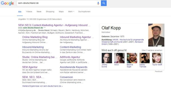 Entitäten Box Beispiel Olaf Kopp