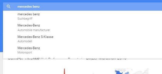 Entitäten bei Google