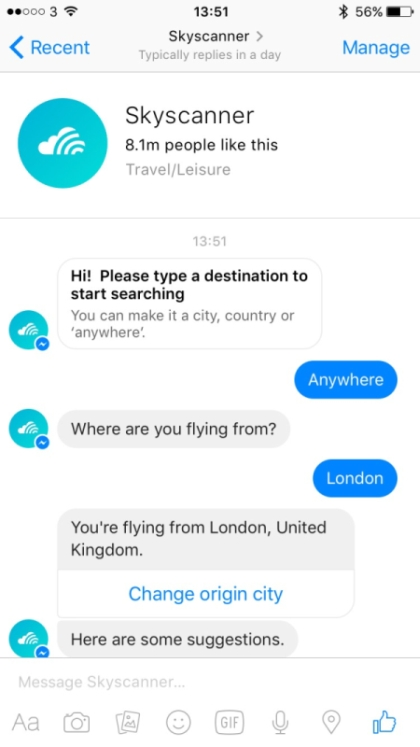 Screenshot Skyscanner