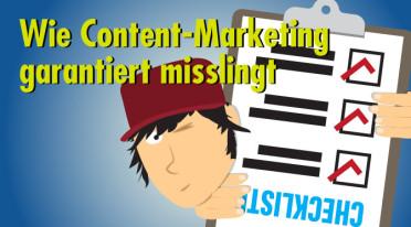 Content-Marketing – Anleitung zum Unglücklichsein