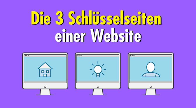 Worauf es bei den drei Schlüsselseiten gewerblicher Websites wirklich ankommt