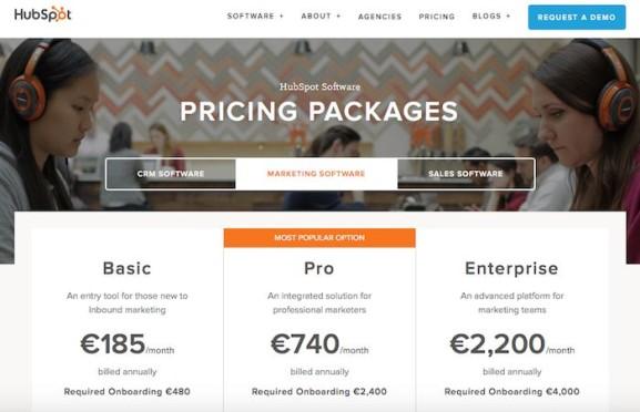 Screenshot Preisliste Hubspot
