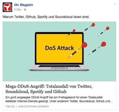 Screenshot T3N Facebook Post