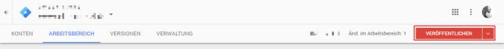 Google Tag Manager speichern