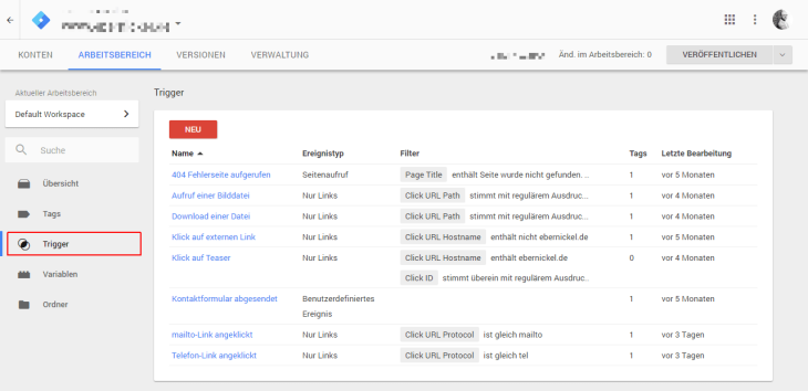 Google Tag Manager Trigger