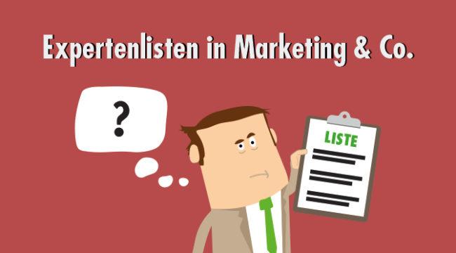 Expertenlisten in Marketing & Co.
