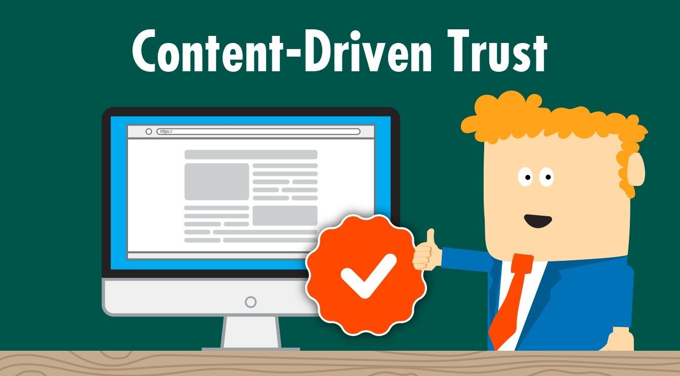Content kann Vertrauen in der Kundenbeziehung aufbauen.