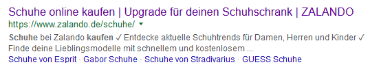 Title und Description Zalando