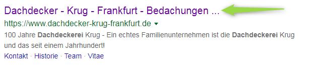 Google Ergebnis: Suchbegriff