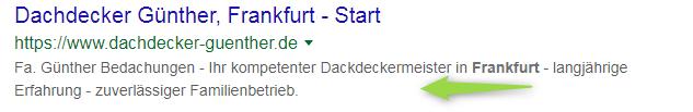 Google Ergebnis: Meta-Description